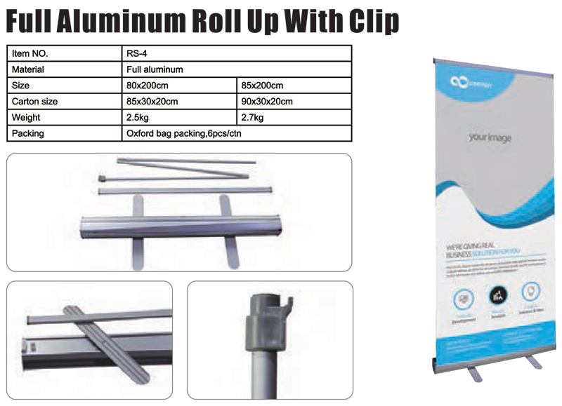 Full Aluminum Roll Up With Clip