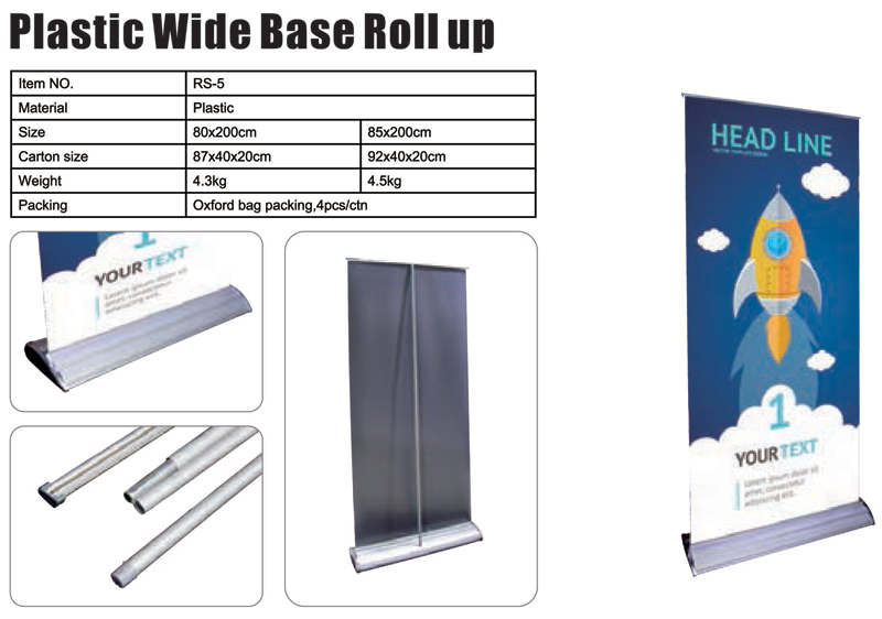 Plastic Wide Base Roll Up