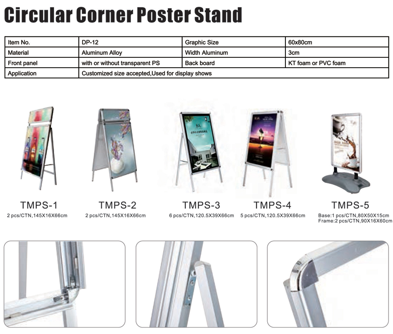 Circular Corner Poster Stand