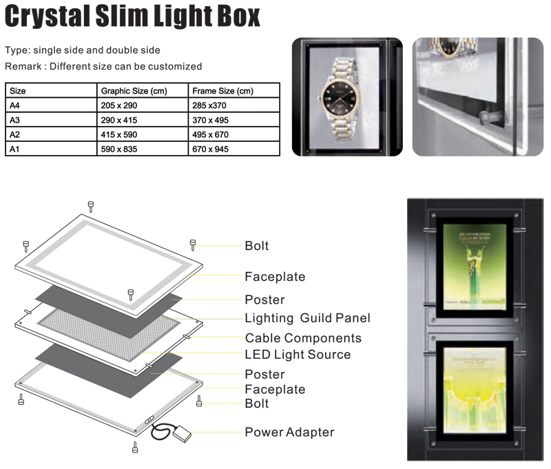 Crystal Slim Light Box